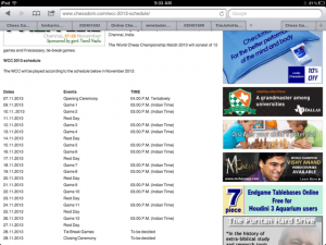 Chess schedule